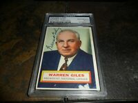 1956 Topps #2 WARREN GILES Signed Psa/dna Original Authentic Autograph  D.1979