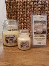 Yankee candle  medium jar small jar melts gift set banana coconut new
