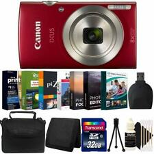 Canon Ixus 185 / Elph 180 Digital Camera Red with Photo Software Accessory Kit