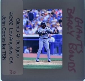 BARRY BONDS - San Francisco Giants - 35mm Color Slide - Baseball Slide