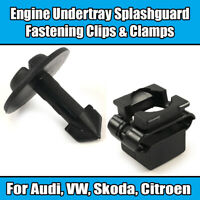 10x CLIPS FOR AUDI VW ENGINE UNDERTRAY CLAMPS GUARD COVER A2 A4 A6 A8 PLASTIC