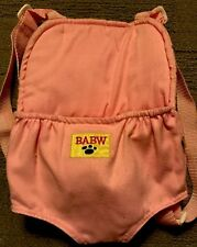 BUILD A BEAR Back Pack Carrier for One Furry Friend, Pink with Adjustable Straps