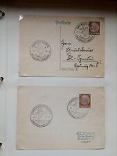 Lot 24 ( 2 ) Germany Stamp Covers - Skiing & Special Cancellations 1933 - 42