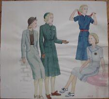 Original Art/Hand-Painted Fashion/Clothing Painting: 1937 - 14
