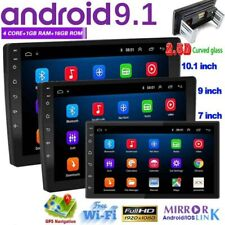 NEW 7'' Double 2 DIN Android 9.1 Car Stereo FM Radio GPS Navigation Head Unit