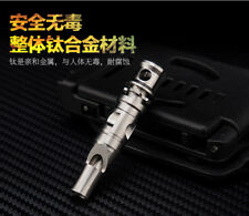 MY Titanium Ti Survival Whistle Camping Hiking backpacking Emergency Tool EDC