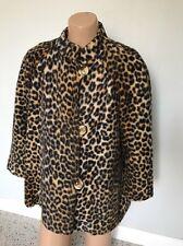 Vintage 50's Faux Leopard Fur Jacket Coat Rockabilly VLV Pin Up Girl