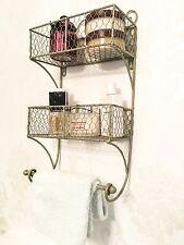 Shabby chic Scaffali Francese Vintage Cesto di stoccaggio display bagno porta asciugamani