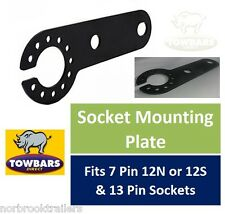 Socket Mounting Plate for Flange Towbars 7 Pin 12N, 12S or 13 Pin Heavy Duty 3mm