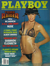 PLAYBOY AUGUST 1999-R - REBECCA SCOTT - SHANNON ELIZABETH !!!