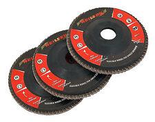 3pc 60 Grit Levigatura Disc Set per angolo di tritatutto-Ruggine e Vernice Rimozione