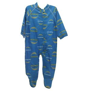 Los Angeles Chargers NFL Baby Toddler Infant Size Pajama Sleeper Bodysuit New