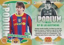 N°369 MESSI ARGENTINA FC.BARCELONA MEGA PODIUM MEGACRACKS CARD PANINI LIGA 2012