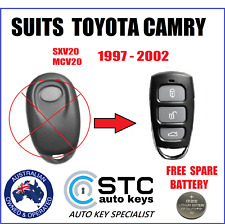 SUITS TOYOTA CAMRY REMOTE KEY FOB SXV20R MCV20R 1997 1998 1999 2000 2001 2002