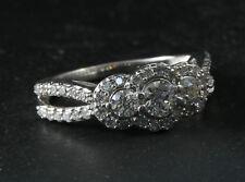 14 K WHITE GOLD DIAMOND RING SIZE 6.5 # 82708-1 DBW