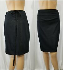 Wrapper Skirt Size 11, A line, cotton spandex , lace up back ,side zip