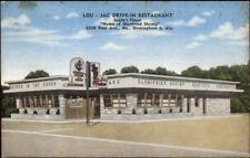 Lou-Jac Drive-In Restaurant North Birmingham AL Linen Postcard