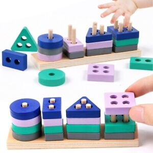 Montessori Toy Building Blocks Educational Wooden Toys Early Learning  For kids