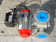 """Triac Controls 3-way Stainless Steel air actuated ball valve ppr-1200 2"""" 150#"""