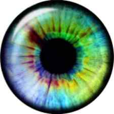 Snap button Valentine Eyeball Eye Ball retina 18mm Cabochon chunk charm