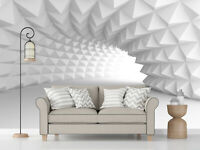 3D Abstract Illusion Arch Tunnel Self-adhesive Living Room Wall Mural Wallpaper