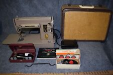 Vtg Singer Sewing Machine Heavy Duty 301A, Case, Manual, Zigzagger & Buttonholer