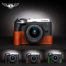Leather Half Case for Canon EOS M6 mark ii Camera Handmade M6 mark2 Retro Cover