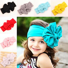 9 PCS Baby Girl Kids Toddler Bow Head Wrap Hair Band Turban Headband Accessories