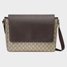 7156e0c967fc Gucci Men s GG Supreme Canvas and Leather Messenger