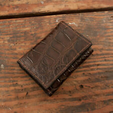 90d46ecf3 Brown Alligator Trifold Wallet Amish Hand Made from Genuine Gator Skin Tri  Fold
