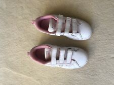 girls adidas sneakers size 12 K US white and pink