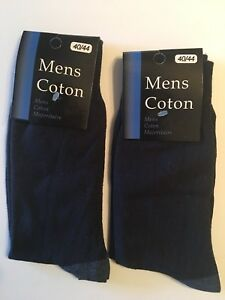 New 12 Pairs Mens Dress Socks Fashion Casual Solid Dark Blue Cotton Size 10-13