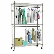 Metal rack System Storage Organizer Garment Rack Clothes Hanger Dry Shelf Stand