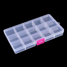 15 compartment transparent visible plastic fishing lure box fishing tackle boxRP