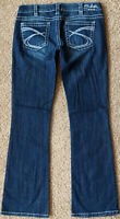 Silver TUESDAY Jeans Low Rise Slim Boot Cut Stretch Blue Denim Pants Women 30/33
