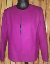 MARK REED Exclusive Fashions size 16 purple Lined wool blend Blazer Coat