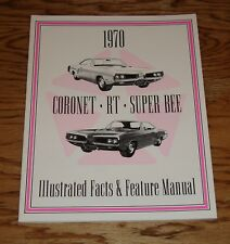 1970 Dodge Coronet RT Super Bee Illustrated Facts Features Manual Brochure 70