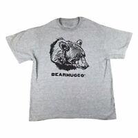 Bearhug Co T Shirt Large Grey Graphic USA America Tee Vintage Style Animal