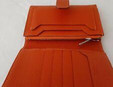 Auth HERMES Orange Goat Leather Wallet