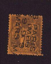 Préoblitéré N°10A 75 c violet sur orange sage 4 lignes