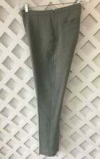 Reiss Slim Trouser Pants Womens Size 6 Sage Green Textured Wool Lined Side Zip