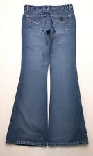 L342 Vtg Angels Jeans Mid Rise Bell Bottom Flare Tag sz 7 (Mea 28.5x31.75)
