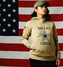 New authentic Dallas Cowboys Nike Womens NFL Salute to Service Therma Hoodie