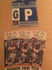 2008 NFL New York Giants Unused Playoff Tickets