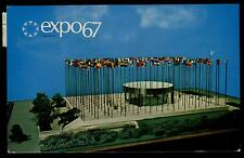 EXPO67 MONTREAL CANADA PAVILION ON THE UNITED NATIONS CHROME POSTCARD COND: GOOD