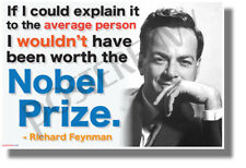 If I Could Explain it to the Average Person - Richard Feynman Classroom POSTER
