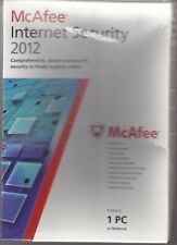 McAfee Internet Security 2012 - 1 PC or Netbook - Factory Sealed