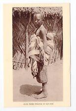 AFRIQUE scenes types ethnies missions  Ethnics jeune maman et son bébé