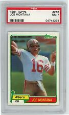 1981 Topps Joe Montana Rookie  #216 PSA 7 NM