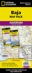 Baja Mexico Maps Adventure Travel Map Pack National Geographic Waterproof